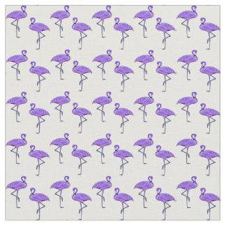 Flamingo Pattern Vibrant Purple Fabric