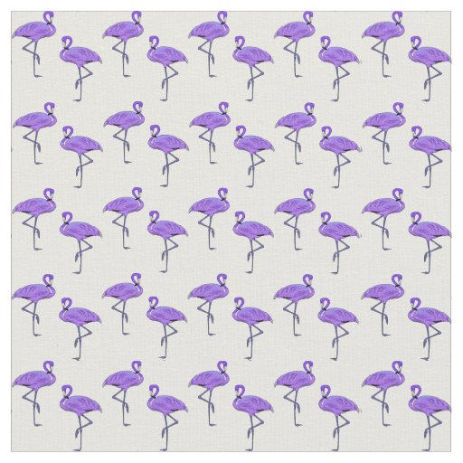 Flamingo Pattern Vibrant Purple Fabric