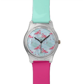 Flamingo Pattern Watch