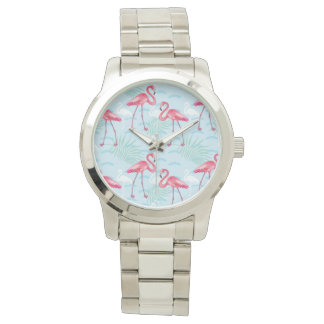 Flamingo Pattern Wrist Watch