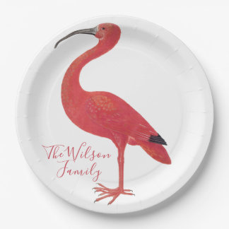Flamingo - Personalised Fine Art Paper Plates