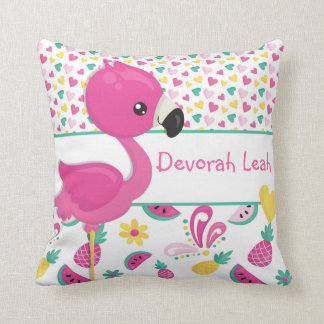 Flamingo pillow - personalized with NAME