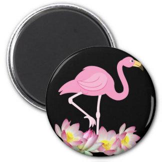 Flamingo Pink 6 Cm Round Magnet