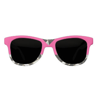 Flamingo Pink Abstract Sunglasses