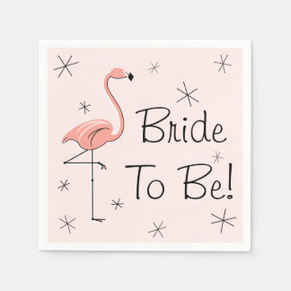 Flamingo Pink Bride to Be! paper napkins
