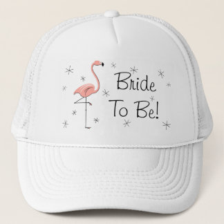 Flamingo Pink 'Bride To Be!' Trucker hat