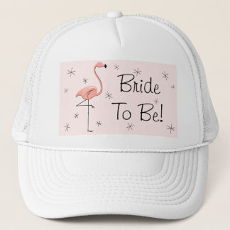 Flamingo Pink 'Bride To Be!' Trucker hat pink