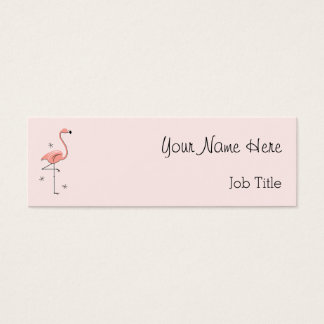 Flamingo Pink business card side text skinny