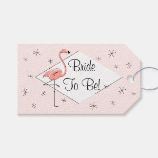 Flamingo Pink diamond Bride to Be! gift tags