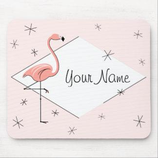 Flamingo Pink Diamond Name mousepad