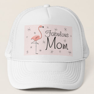Flamingo Pink 'Fabulous Mom' Trucker hat pink