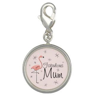 Flamingo Pink 'Fabulous Mum' charm