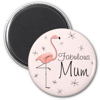 Flamingo Pink Fabulous Mum magnet