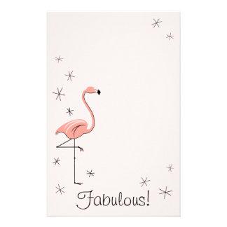 Pink flamingo custom stationery pink flamingo stationery templates flamingo pink fabulous stationery pronofoot35fo Images