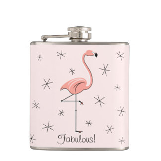 Flamingo Pink Fabulous! wrapped flask