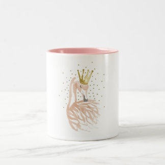 Flamingo - Pink flamingo Two-Tone Coffee Mug