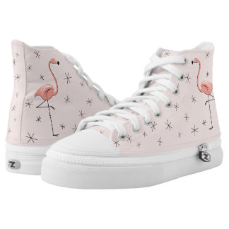 Flamingo Pink hi top shoe