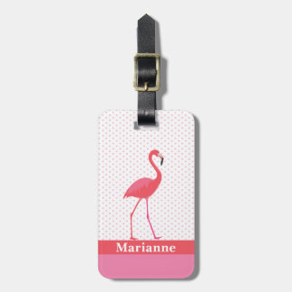 Flamingo Pink Luggage Tag