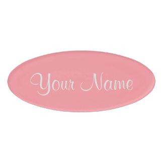 Flamingo Pink Name Tag