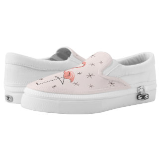 Flamingo Pink slip on shoe