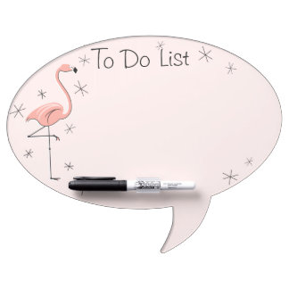 """Flamingo Pink """"To Do List"""" oval speech bubble Dry Erase Board"""