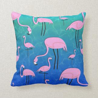 Flamingo Pond Cushion