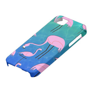 Flamingo Pond iPhone 5 Case