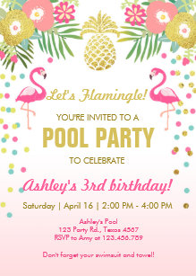 pool party invitations announcements zazzle uk