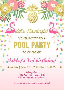 pool party invitations announcements zazzle uk