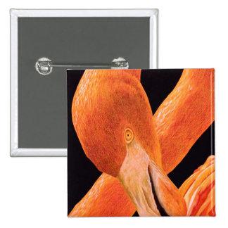 Flamingo Portrait 15 Cm Square Badge