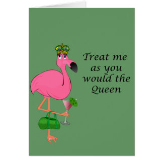 Flamingo Recipe Note Card