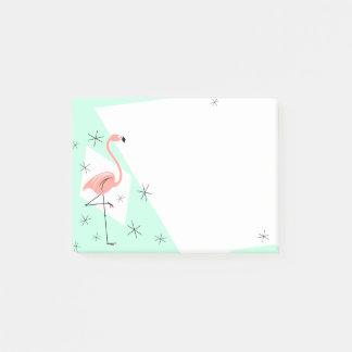 Flamingo Retro Green note