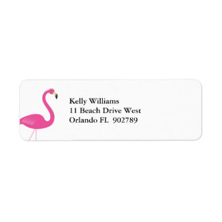 Flamingo Return Address Labels