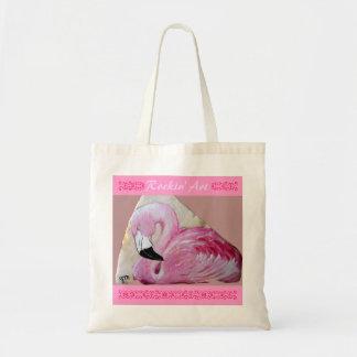 Flamingo Rock Art Bags