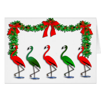 Flamingo Rockettes Dancing Show Card