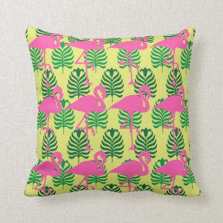 Flamingo Row Throw Pillow