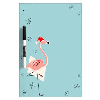 Flamingo Santa Blue dry erase board