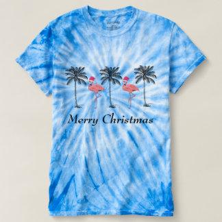 Flamingo Santa Merry Christmas T-Shirt