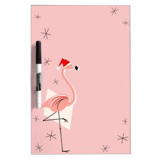Flamingo Santa Pink dry erase board