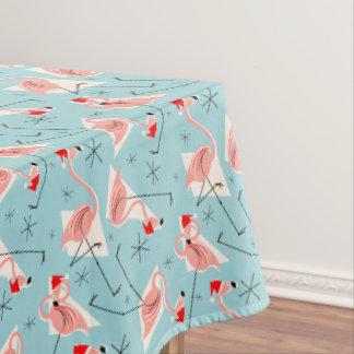 Flamingo Santas Blue Multi tablecloth