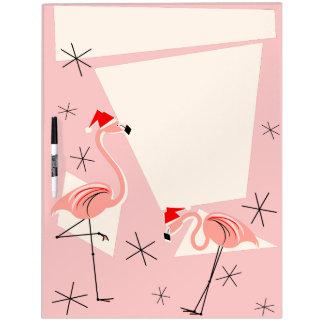 Flamingo Santas Pink dry erase board