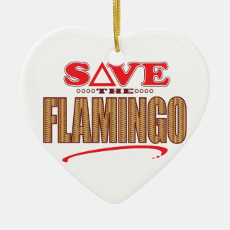 Flamingo Save Christmas Ornament