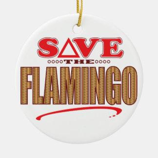Flamingo Save Christmas Ornament