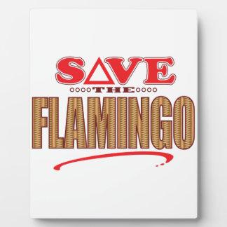 Flamingo Save Photo Plaque