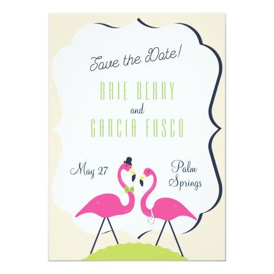 Flamingo Save the Date Invitation Card