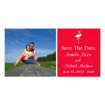 Flamingo Save The Date Photocard (Red) Photo Greeting Card