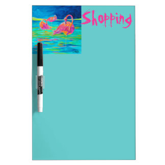 Flamingo- shopping dry-erase board
