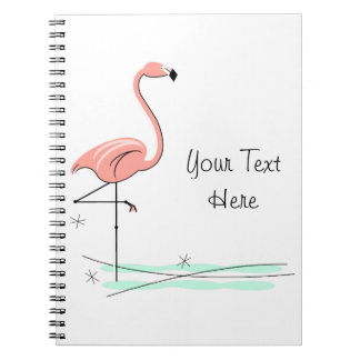 Flamingo Side Text notebook
