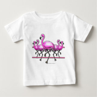 Flamingo Strip Baby T-Shirt