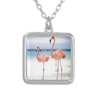 Flamingo Stroll Pendant